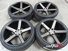 20 Niche M134 Milan Concave Black/DDT Wheels w/ Tires fits BMW 5 Series 525 528