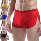 Sexy Men Cotton Underwear Perspective Boxer Shorts Briefs Breathable Underpants