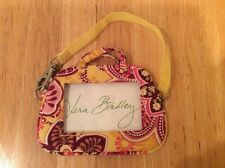 Vera Bradley Bali Gold Zip ID Case Coin Card Wallet Key Ring Retired BRAND NEW