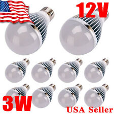 5x Ultra Bright 3W 12V E27 Home LED Energy Saving Bulb Lights 6000K White E26