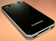 Puregear Slim Shell case iPhone 4/4s, Gloss Black, Gray Bumper, New in package