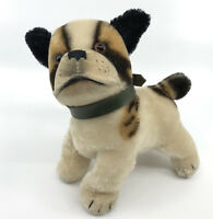 Steiff Bully Bulldog standing Dog Mohair Plush 17cm 7in 1960s Glass Eyes no ID