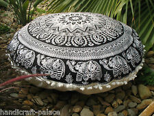 Mandala Floor Cushion Bohemian Indian Cushion Cover Elephant Mandala Design