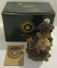 1997 Boyds Bears & Friends Bearstone Grace & Jonathan Born To Shop Figurine Box