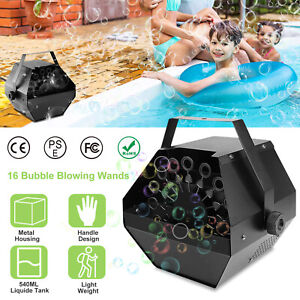 Automatic Bubble Machine Maker High Output Auto Blower DJ Party Stage Wedding US