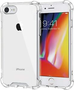 For iPhone SE (2020) 5 6 7 8 11 Bumper Shockproof Silicone Protective Cover Case