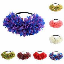Ladies Elastic Flower Crown Headband Garland HairWreath H airwrap Hair Jewerly