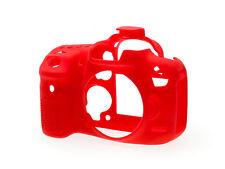 Estuche Armadura de Cámara de piel de silicona EasyCover para adaptarse a DSLR Canon EOS 7D MKII-Rojo