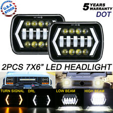 "2x H6054 7X6"" Projector LED Headlight Hi-Lo Beam For Plym Pontiac Oldsmobile"