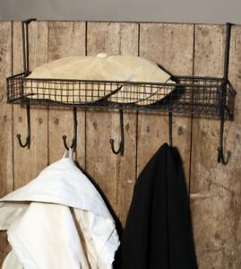 Metal Mesh Over The Back Of Door Hanging Shelf Hooks Bathroom Bedroom Kitchen
