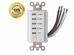 Electrical Bathroom Fan Auto Shut Off Countdown Switch Timer, 30-15-10-5 Minute