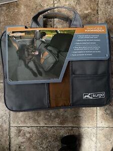 Kurgo Wander Dog Hammock Seat Cover Gray Brand New Waterproof & Stain Resistant