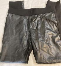 """Lauren Ralph Lauren Faux Leather front Stretch Leggings Pants Size 12/30"""" Euc"""