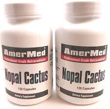 2x Nopal Cactus 600 mg 120 Capsules Weight Loss Blood Sugar Inflamation