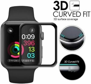 For Apple watch 6 5 4 3 2 full curved screen protector PET film size 44 42 40 38