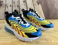 Nike Air Max 270 React ENG Blue Kids GS Shoe Yellow CD6870-700 Sz 3.5Y/Women's 5