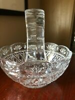 Vintage Heavy Lead Crystal Beautiful candy basket or centerpiece