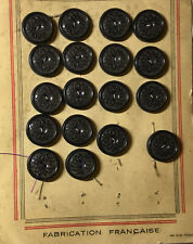 Vintage Brown Button With A Flower Pattern Front.