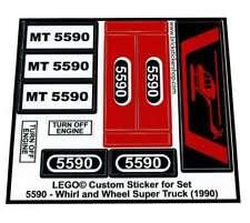 Precut Replica Sticker for Lego Set 5590 - Whirl and Wheel Super Truck (1990)