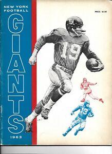 1963 New York Giants Yearbook GREAT!!