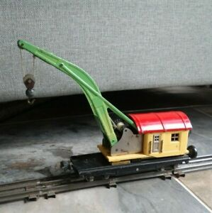 Prewar LIONEL 0 gauge 810 Crane Car w/Box Couplers  - Super Nice!