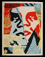 SHEPARD FAIREY Damaged 2018 Original Screenprint SIGNED OBEY GIANT