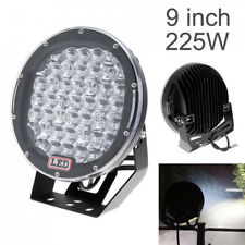 9inch 225W Black Round Spot CREE LED Work Light Car Off-road Truck Driving Lamp