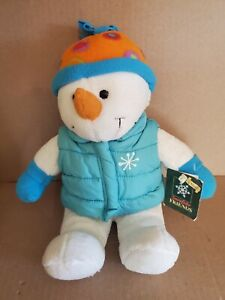 """Dan Dee Collector's Choice Snowflake Friends 15"""" plush Snowman with tags clean"""