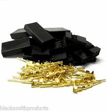 C1001GF10 RC Compatible JR Set Female Battery Servo Connector Plug Full Gold x10
