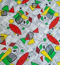 Vintage 1960s ATOMIC Design Retro Fabric...