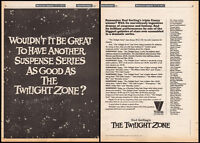 THE TWILIGHT ZONE__Original 1981 Trade print AD / TV promo / poster__Rod Serling