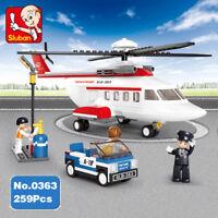 Bausteine Sluban Aviation Privat Flugzeug Helicopter Hubschrauber Spielzeug Mode