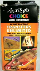 ARTISANS CHOICE Transfers Unlimited Rare Old Stock New Open Box Unused