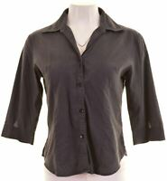UNITED COLORS OF BENETTON Womens Shirt 3/4 Sleeve Size 10 Small Grey  IW10
