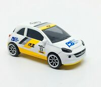 Majorette OPEL Adam Racing R2 White Yellow 1/55 202A New in Box Free Display Box