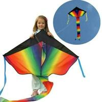 Huge 30M String Rainbow Flying Kite Kids Children Outdoor Child Game Toy H1M2