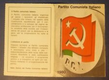 TESSERA - P.C.I. - PARTITO COMUNISTA - PARMA 1980