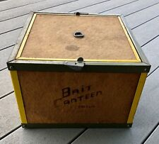 Bait Canteen Oberlin Vintage Fishing Worm Night Crawler Bait Box Case 12�x12�
