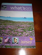 WHATS ON,JERSEY,CHANNEL ISLANDS OFFICIAL VISITORS GUIDE, 86 PAGE PAPERBACK BOOK