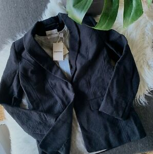 COUNTRY ROAD - NEW! SZ 10,12 textured single breasted jacket S,M [CR LOVE]