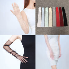 Thin Long Gloves Sunscreen Gloves Sheer Tulle Opera Bridal Party Dress Gloves