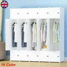 16 Cube Modular DIY Plastic Wardrobe Cabinet Organizer Storage Shelves Cupboard