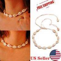 Fashion Natural Boho Sea Shell Cowrie Beach Choker Women Necklace Jewelry Gift