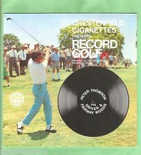 GOLF INSTRUCTION FLEXIBLE 33rpm RECORD - PETER THOMPSON, DRIVERS & WOODS
