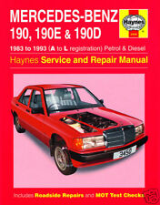 Haynes Mercedes 190 190E 190D Petrol Diesel 1983-1993 Manual 3450 NEW