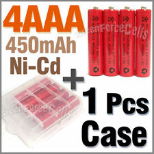 1 x Case + 4 AAA Ni-Cd 450mAh rechargeable battery Red