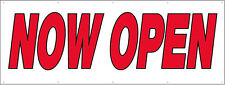 5x12 ft Now Open Vinyl Banner Business Store Grand Opening Sign New - rw