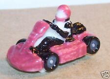 RARE CHARM KARTING ROSE FONCE N°8 FEVE PORCELAINE 3D 1/87 HO