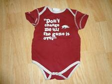 "Infant Arkansas Razorbacks 18 Mo Creeper ""Don't Change Me Till The Game Is Over"""