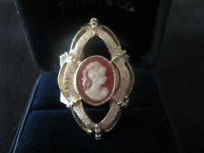 """Vintage Sarah Coventry Ring ~ """"Cameo Portrait"""" ~ 1976"""
